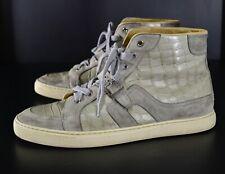 RARE! HERMES Quantum Crocodile Sneakers Size 42 EUR 9 US Casual Luxury High Top