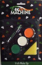 Máquina de diversión Conjunto de Maquillaje irlandesa (verde, blanco, anaranjado Esponja, pluma) también para la India