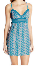 Cosabella Women's Dolce Printed Snake Chemise, Blue, Small