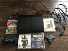 PlayStation PS3 Slim 500gb CECH-4301C 4 Games Controller HDMI COD Battlefield