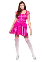 Adult Ladies Sleeping Beauty Aurora Fairytale Fancy Dress Short Princess Costume