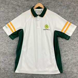 Cooper Sports Australia Socceroos Polo Shirt Size XL White Short Sleeve 28.07
