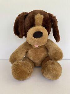 "Build a Bear Carmel Pup 11"" Plush Brown Tan Stuffed Animal Dog Toy Puppy BAB"
