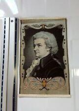 More details for woven silk portrait picture don juan zauberflote 1756-1791 mozart stevengraph