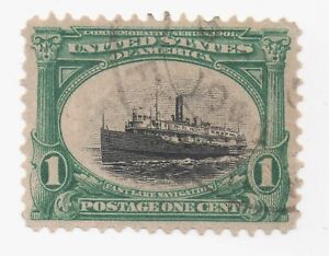 1901 Pan-American US Sc 294 Used VF / XF Slow & Low Tide Vignette Shift Variety