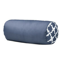 Arabesque Charcoal Round Bolster Pillow Cushion Outdoor Water Resistant Garden