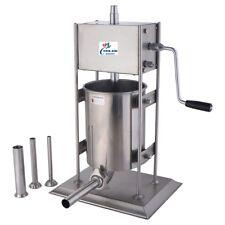 New 10l Manual Sausage Stuffer Maker Meat Filler Machine Hand Crank Model Smf10