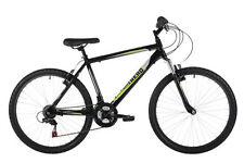 Bicicleta de montaña negro de aluminio