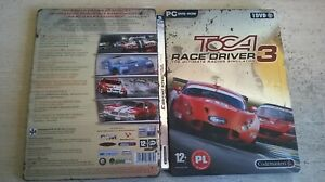 TOCA RACE DRIVER 3 - PC GAME - FAST POST - STEELBOOK EDITION - POLISH LANGUAGE