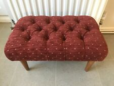 "Stunning NEW Rust (Chenille Feel Fabric) 23"" x 14"" Buttoned Foot Stool"
