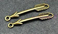 Tibetan silver 37x6mm 1.2g 10pcs charms connector bronze arrow