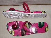 Miss Sixty Printed Lips Flip Flops sandal pink 37 new
