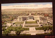 Civic Center and City Building, Denver, Colorado - Linen Postcard