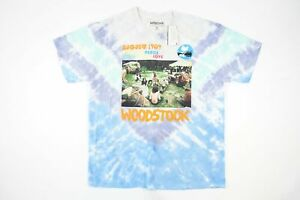 WOODSTOCK TIE DYED VINTAGE RETRO 60'S HIPPY PEACE LOVE MUSIC PHOTOGRAPHY TSHIRT