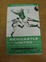 01/11/1969 Newcastle United Reserves v Huddersfield Town Reserves [Four Pages] (