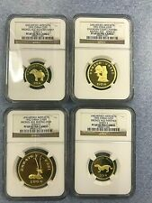 SET OF 4 1992 NGC COINS PF69 UC CHINA - UNEARTHED ARTIFACTS - G25Y, G50Y, G100Y