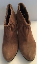 Brown Suede Sam Edelman Womens Boots Shoes 7.5 M NEW