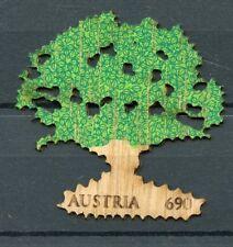 Austria 2017 MNH Oak Tree 1v Wooden Stamp Nature Trees Stamps