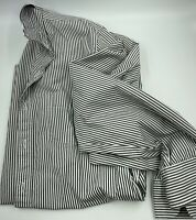 Jcrew Mens Long Sleeve Striped Button Down Gray White Size M
