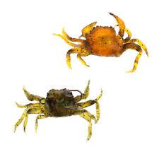 2 piezas señuelos de pesca artificiales del cangrejo Cebos de pesca suaves
