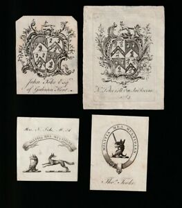 Au2. Ex Libris Armorial Bookplates. COLLECTION OF TOOKE FAMILY + Information.