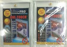 Ultra Pro UV One Touch 75 Point Magnetic Rigid Card Holders x 2-NRL Thick cards