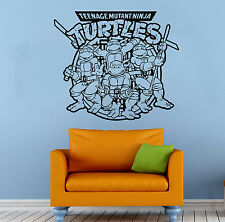 Ninja Turtles Wall Decal TMNT Vinyl Sticker Comics Hero Home Wall Decor (009n)