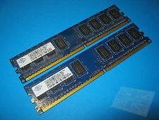Nanya 2GB (2x1GB) NT1GT64U88D0BY-AD PC2-6400U DDR2 Desktop Memory
