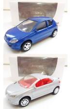 Lot de 2 Peugeot 206 (Berline Bleu, CC Gris) 1/64 NOREV NEUF