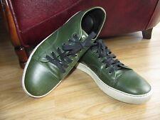 Genuine Cuero Verde Oscuro Para Hombre Lanvin Zapatos Zapatillas Size UK 8