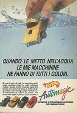 X2160 Hot Wheels - Automagic - Mattel - Pubblicità 1988 - Advertising