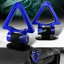RACING STYLE JDM BLUE TRIANGLE TRACK CAR SUV TRUCK TOW HOOK LOOK DECORATION