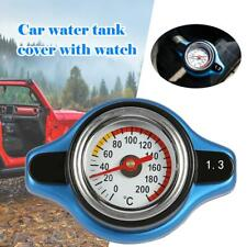 Big Head Temperature Gauge with Thermo Radiator Cap Tank Cover 1.3Bar Universal
