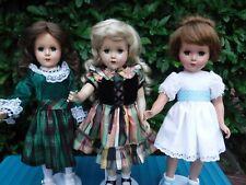 "3pc Vintage Hard Plastic 17"" Dolls Arranbee R & B ?"