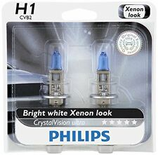 2x GERMANY Philips H1 12258 Upgrade Ultra Crystal Vision Xenon White Light Bulb