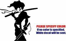 "Afro Samurai Decal Sticker JDM Funny Vinyl Car Window Bumper Truck Laptop 6"""