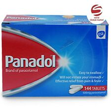 PANADOL 500mg PARACETAMOL144 TABLETS EFFECTIVE RELIEF FROM HEADACHE,FEVER&PAIN