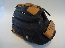 """Wilson A2451 11"""" Baseball Glove Brown Black Leather Custom Fit Right Hand Throw"""