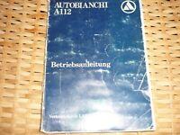 LANCIA AUTOBIANCHI A112 Betriebsanleitung 1980 Bedienungsanleitung A 112