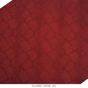 Pelle Vacchetta Rettile Progettazione 2,5 MM Spesso A4 Formato Rosso Vera 71