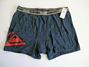 Quiksilver Men's XL Boxer Brief Shorts Underwear Navy Blue Red Cotton