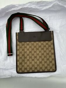 Gucci Strap Side Bag GG Monogram Canvas | 100% AUTHENTIC | BRAND NEW | Woman Men