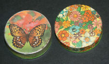 *Vintage Small Metal Travel Size Pill Boxes-View Photos For Flaws