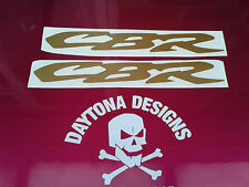 CBR BELLY PAN LOWER FAIRING CUSTOM GOLD GRAPHICS DECALS STICKERS