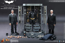 Hot Toys The Dark Knight Armory Batman Bruce Wayne & Alfred 1/6 Scale Figues Set
