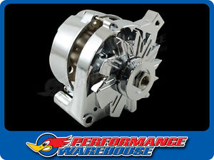 CHROME FORD AUTOLITE ALTERNATOR HOUSING WITH PULLEY