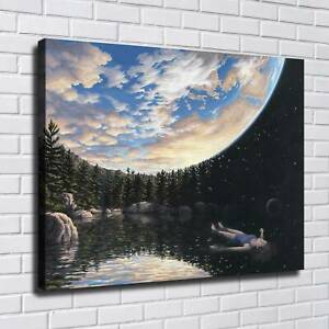 """30x24"""" Rob Gonsalves """"The Phenomenon of Floating"""" HD print on canvas large size"""