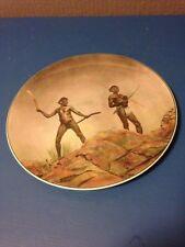 Royal Doulton cabinet Plate Australian Aborigines Aboriginal Hunting Weapons