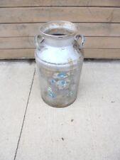metal milk can no lid dairy yard garden decor painted silver