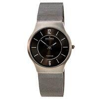 Skagen 233LTTM Men's Slim Grey Dial Titanium Mesh Bracelet Analog Quartz Watch